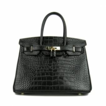 Hermes Birkin 30 Crocodile Black сумка 181
