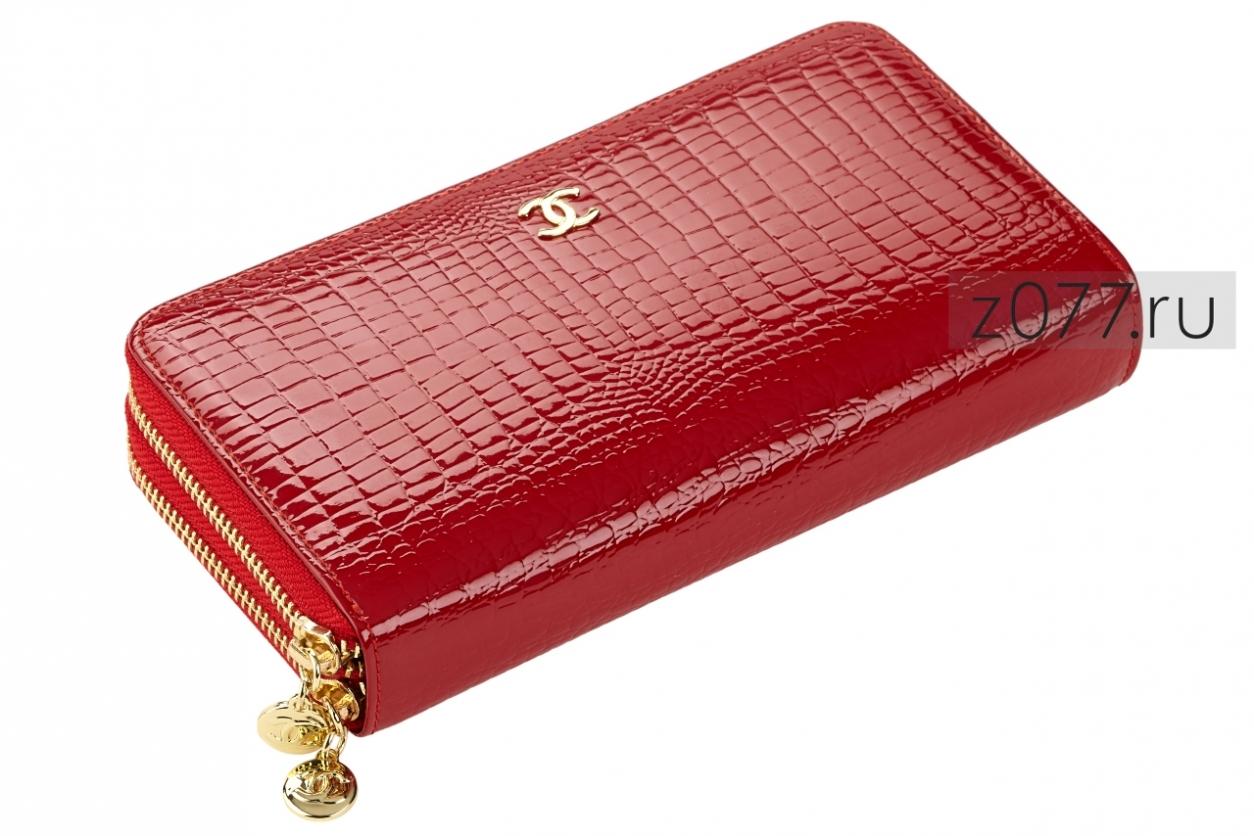 CHANEL женский кошелек с двумя молниями 524 красный купить в Москве ... eddcfdcc51c