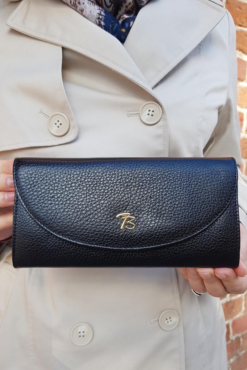 Турецкий кожаный кошелёк чёрного цвета