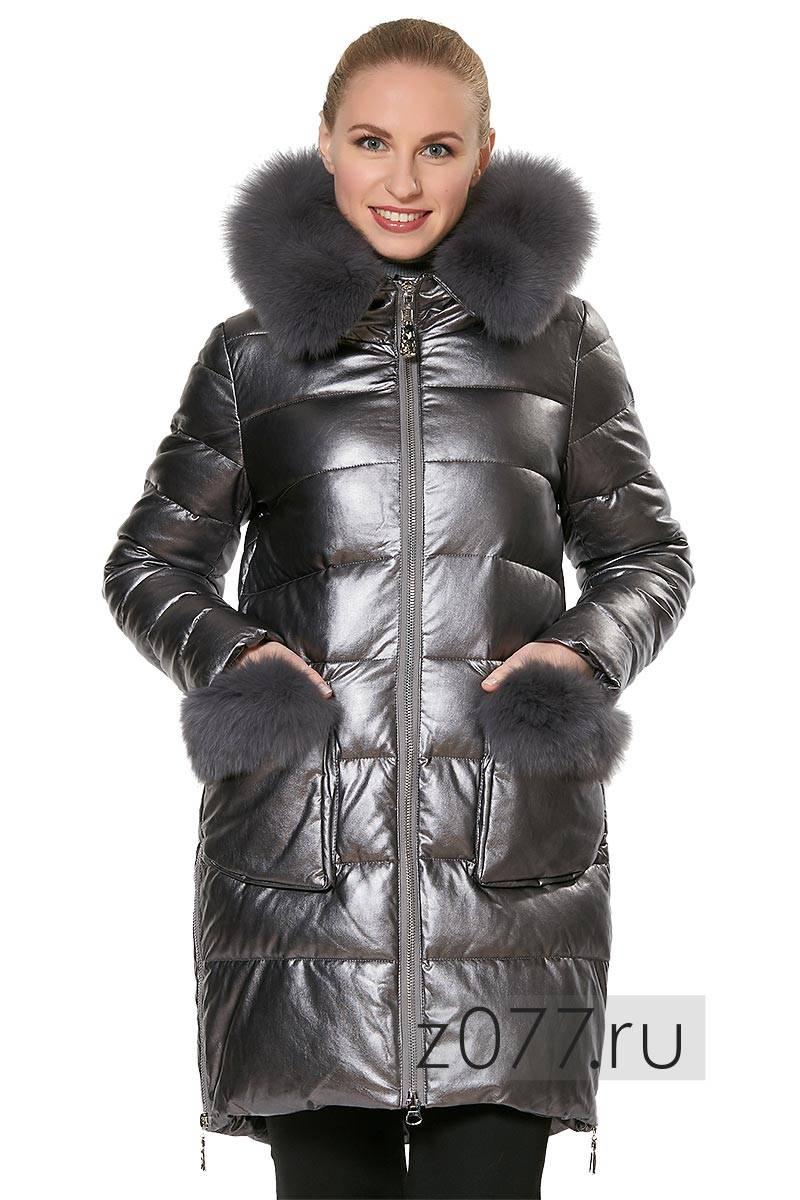 ZLYA куртка женская 17293 темное-серебро 973431a7da687
