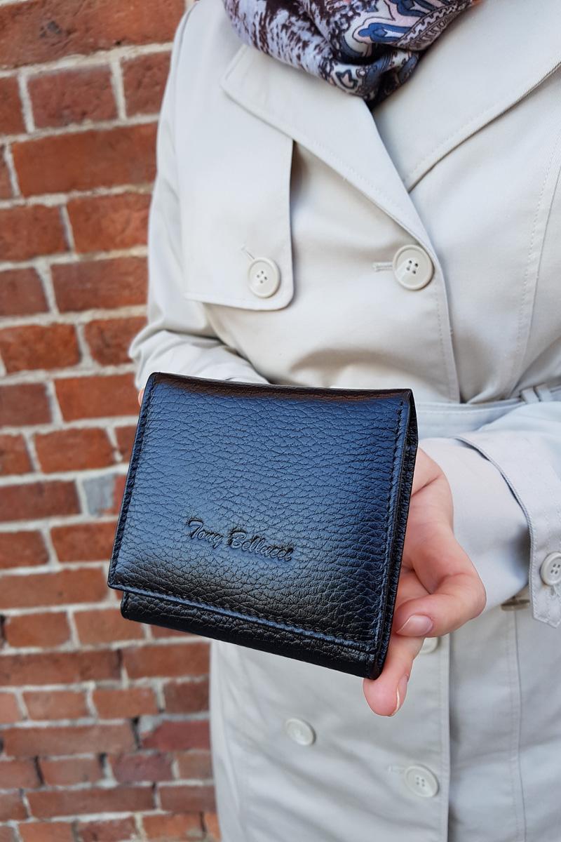Маленькое женское портмоне чёрного цвета