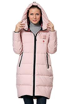 розовые зимние куртки на синтепоне