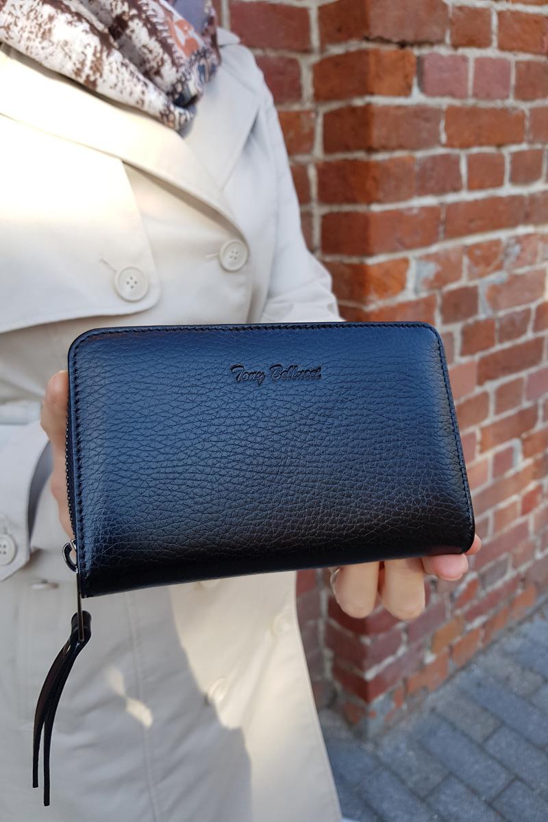 Стильный кошелёк с монетницей на молнии Tony Bellucci