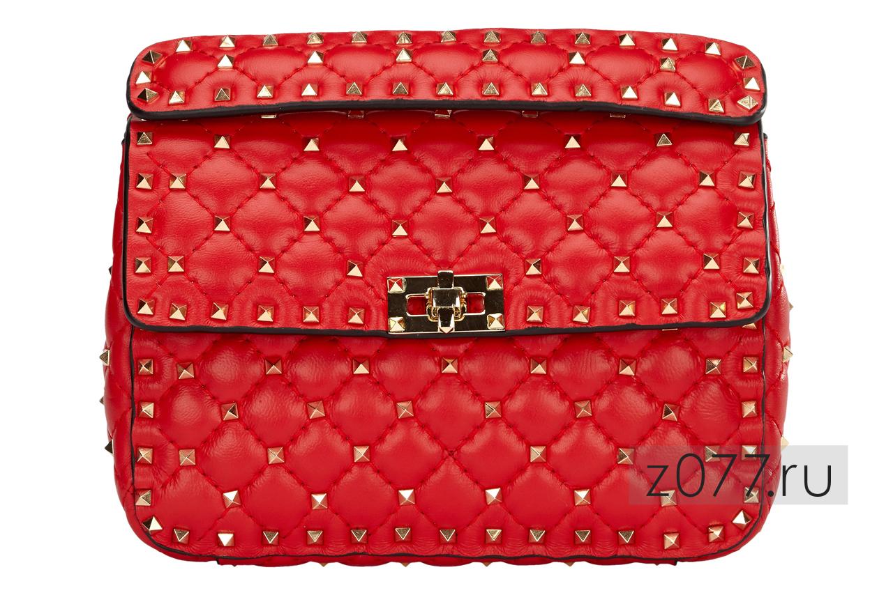 женская сумка ярко-красная