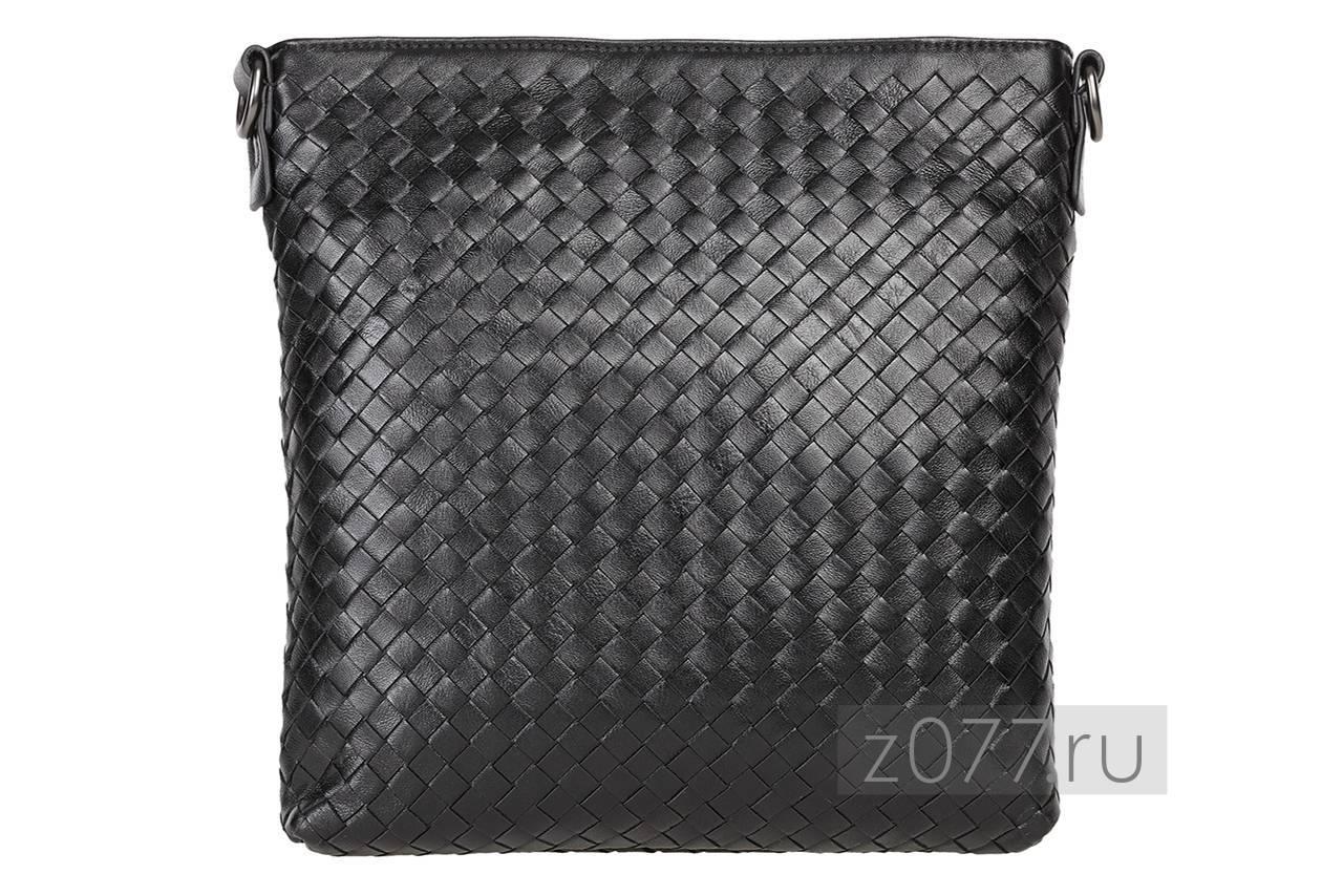 мужская сумка из плетеной кожи