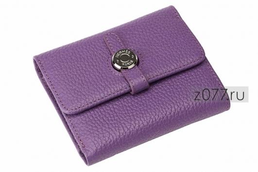 3a9a122540cf HERMES женский кошелек 49 Фиолетовый купить в Москве, цена 2 600 руб ...