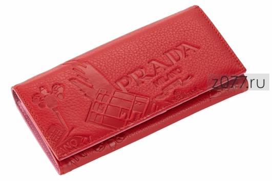 b96adbce5479 PRADA женский кошелек 420 красный купить в Москве, цена 2 990 руб ...