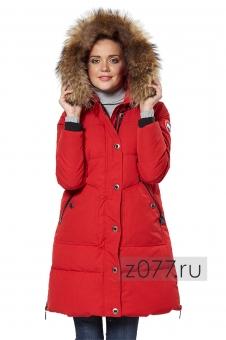 Красная зимняя куртка