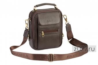 Коричневая мужская сумка на плечо